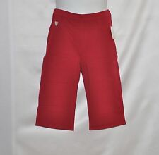 Quacker Factory DreamJeannes Knit Denim Pedal Pushers Size 1X Red
