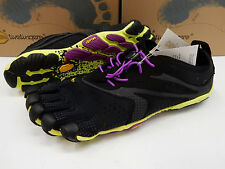 VIBRAM FIVEFINGERS WOMENS V-RUN BLACK YELLOW PURPLE SIZE EU 40