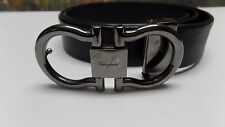 Salvatore Ferragamo Double Gancini Leather Belt - Size 34