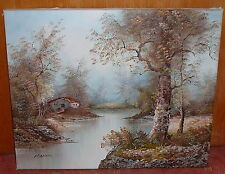 Voilent paysage-peinture huile-p. Cafieri