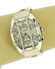 Van Der Bauwede Quarterback Sterling Silver Hefty Chronograph Wrist Watch