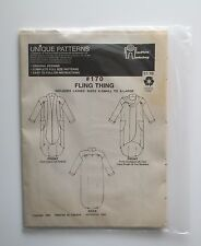MacPhee Workshop Sewing Pattern #170 FLING THING XS to XL Open Front Long Top