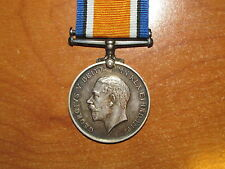 WW1 silver British War Medal named Gibson