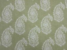 Clarke and Clarke Harriet Sage Paisley Design Curtain Upholstery Fabric