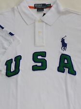 New Polo Ralph Lauren Custom Fit White Big Pony USA Mesh Polo Shirt / XL / $125