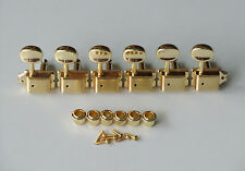 6 Inline Gold Strat Tele Vintage Guitar Tuning Pegs Guitar Tuners Machine Heads