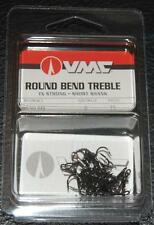 VMC 9650 Round Bend Treble Hooks Size 8 - Pack of 25 9650BN-08 Black Nickel