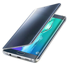 Original Samsung Galaxy s6 Edge plus clear View cover Flip funda protectora negro