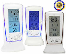 Modern Square LCD Digital Alarm Clock Calender LED Display Battery Powered UR