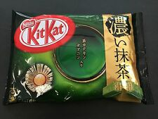 Japanese Kit Kat Uji Koi Dark Matcha Green Tea KitKat Chocolates 11 Mini Pack