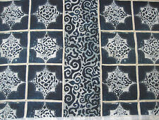 "WILLIAM YEOWARD CURTAIN FABRIC DESIGN ""Giocanta"" 4.2 METRE INDIGO (420 CM)"