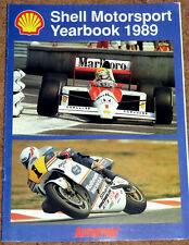 Autosport 1989 SHELL OILS MOTORSPORT YEARBOOK - F1 Rallying Bikes Le Mans Senna