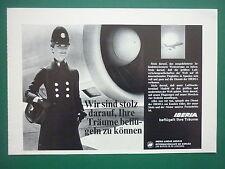 2/1973 PUB IBERIA LINEAS AEREAS DE ESPANA AIRLINE HOTESSE DE L'AIR GERMAN ADVERT