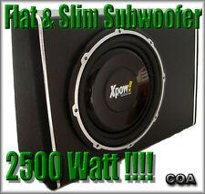 SUBWOOFER AUTO CON AMPLIFICATORE INTEGRATO SUPER SLIM FLAT DA 2500 WATT MAX!!!