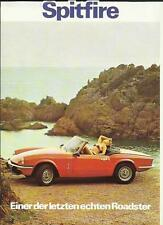 TRIUMPH SPITFIRE ROADSTER SALES 'BROCHURE'/SHEET 1980 GERMAN LANGUAGE