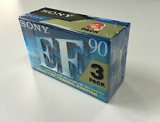 Sony EF90 3 Pack Blank Audio Cassette Tape Excellent Fidelity Standard 90 min