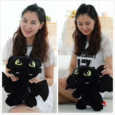 "NEW 12"" How to Train Your Dragon Plush Toothless Night Fury Soft Toy Doll"