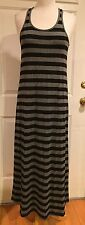 A.T.2 Tees With Integrity Racerback Maxi Dress Grey Black Wide Stripe M