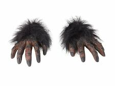 Fancy Dress Hairy Werewolf Hand Gloves Halloween Costume
