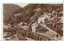 Devon Postcard - Mars Hill and Harbour - Lynmouth - Real Photograph  ZZ1852