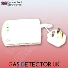 GAS DETECTOR SIREN WIRELESS GAZ COMBUSTIBLE FOR ALARM RFID GSM WIFI 433 MHz