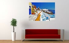 GREECE OIA SANTORINI NEW GIANT LARGE ART PRINT POSTER PICTURE WALL