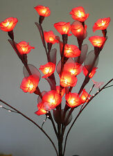 Red Rose Flower Stem Bunch Wedding Table Party Centrepiece 20 Light AUS Plug