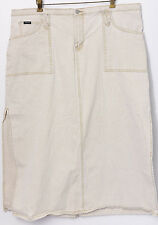 Squeeze Denim Skirt 20 Off White Jean Cotton Ribbed Long Side Slit Pockets
