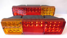 12V/24V Pair LED Rear Tail Lights Lamps Truck Lorry Trailer Tipper Van Bus