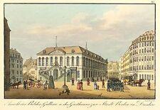 DRESDEN - NEUMARKT & JOHANNEUM - J.C.A. Richter - kolor. Umrissradierung 1820