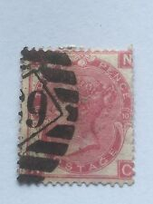 victorian penny red - large uncoloured corner letters .wmk - spray of rose.n - c