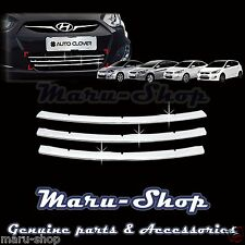 Chrome Bumper Radiator Grille Center Cover Tirm for 12+ Hyundai Accent 4DR/5DR