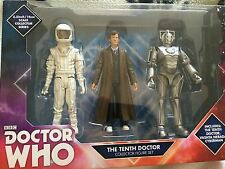 NUOVO Doctor Who 10th Doctor, Doctor Who Cyberman & Raccolta Figure Giocattolo