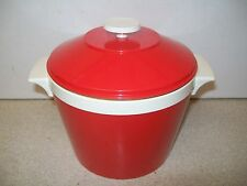 Vintage Retro 'KH Made in HONG KONG' Red Plastic ice bucket No. 445