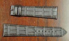 Cartier Factory Original Dark Brown Alligator Leather Strap 23x18mm