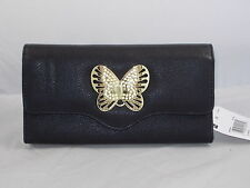 Mundi File Master Black Gold Butterfly Coupons Cash Receipts Organizer Wallet