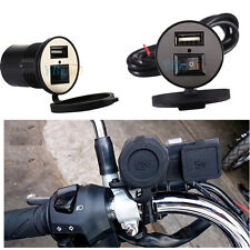 USB Motorcycle Motorbike Mobile Phone Power Charger Port Socket 12V