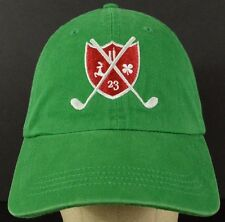 Clover 23 Stag Golf Shield Logo Green Baseball Hat Cap with Cloth Strap Adjust