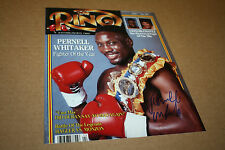 "PERNELL ""SWEET PEA"" WHITAKER SIGNED 8X10 PHOTO RING MAGAZINE COVER W/BELT"