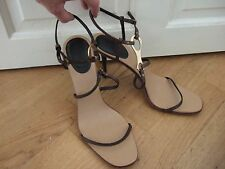 GUCCI High Heel Strappy Leather Iconic Horsesbit Sandals EUR 42.5 UK 8.5 USA10.5