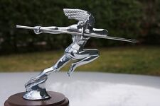 RUNNING RED INDIAN AUTOMOBILIA HOOD ORNAMENT MASCOT Chief Runamuk PONTIAC RATROD