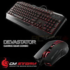 CM Storm Devastator II -Red LED Backlight Gaming Keyboard and Mouse Combo Bundle