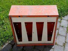 Oranges  60er Jahre 4fach Kaugummiautomaten Gehäuse im kultigen Design!