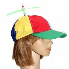 Adjustable Dragonfly Propeller Beanie Baseball Cap Hat Multi-Color Clown Costume