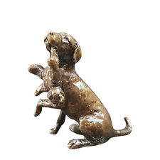 Butler & Peach Detailed Small Solid Bronze Dog Labrador with Teddy