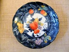 JAPANESE PLATE FRUIT PATTERN BLUE RED YELLOW WHITE