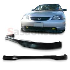 Made for 2001-2003 Honda Civic Type-R Style JDM Front Bumper PU Chin Lip Spoiler