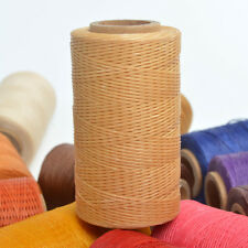 Beige 260m/284yds Spool 1mm Flat Sewing Leather Waxed Thread Shoes Bags Leather