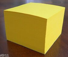 """Note Paper Cube - PADDED CUBE  """"Astrobright Solar Yellow"""" 3 1/2 x 3 1/2"""