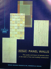 MOSAIC Tile Co Building Panel Walls Catalog Cement ASBESTOS J-M Flexboard 1960's